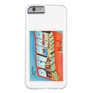 Postal vieja del viaje del vintage de Belmar New Funda Barely There iPhone 6