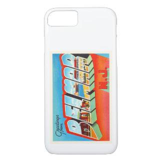 Postal vieja del viaje del vintage de Belmar New Funda iPhone 7