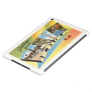 Postal vieja del viaje del vintage de Rahway New Carcasa Para iPad Air