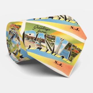 Postal vieja del viaje del vintage de Rahway New Corbatas
