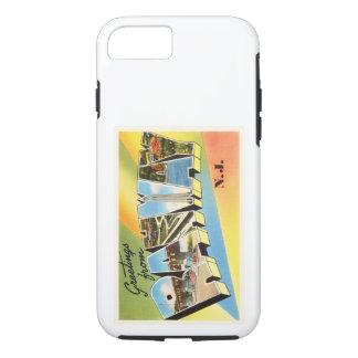 Postal vieja del viaje del vintage de Rahway New Funda iPhone 7