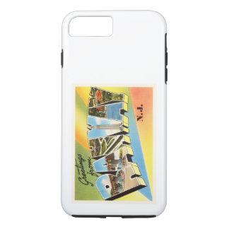 Postal vieja del viaje del vintage de Rahway New Funda iPhone 7 Plus