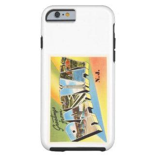 Postal vieja del viaje del vintage de Rahway New Funda Resistente iPhone 6