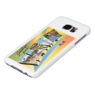 Postal vieja del viaje del vintage de Rahway New Funda Samsung Galaxy S6