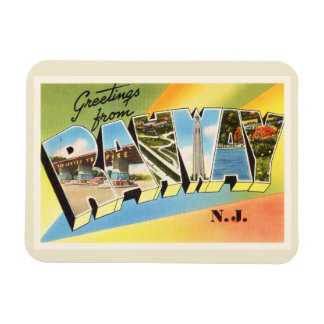 Postal vieja del viaje del vintage de Rahway New Iman