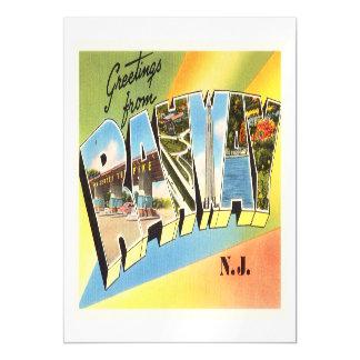Postal vieja del viaje del vintage de Rahway New Invitaciones Magnéticas