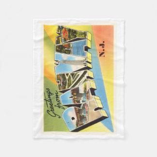 Postal vieja del viaje del vintage de Rahway New Manta Polar
