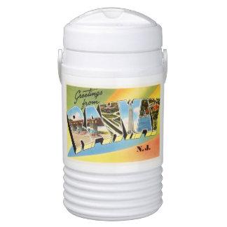 Postal vieja del viaje del vintage de Rahway New Refrigerador De Bebida Igloo