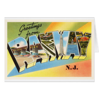 Postal vieja del viaje del vintage de Rahway New Tarjeta De Felicitación