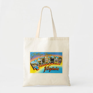 Postal vieja del viaje del vintage de Richmond Bolsa Tela Barata