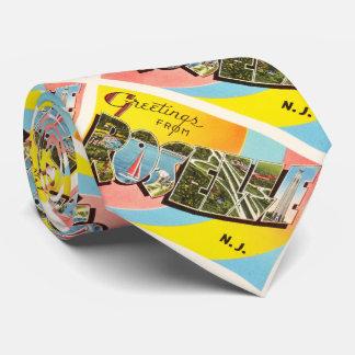Postal vieja del viaje del vintage de Roselle New Corbatas Personalizadas