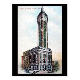 Postal vieja - edificio del cantante, NYC, 1911