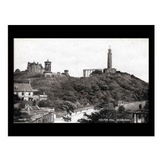 Postal vieja, Edimburgo, colina de Calton en 1930