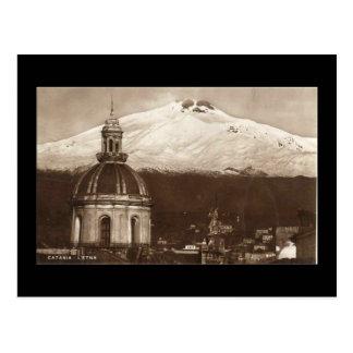 Postal vieja, el Etna