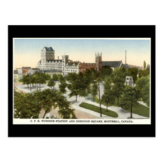Postal vieja, estación de Montreal, Windsor