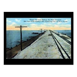 Postal vieja - ferrocarril de Key West