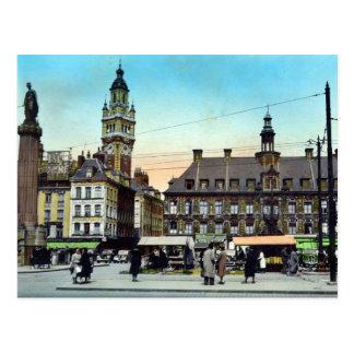 Postal vieja - Lille, Francia - la bolsa del La
