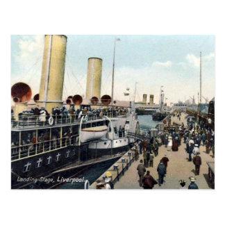 Postal vieja - Liverpool, etapa de aterrizaje