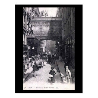 Postal vieja - Lyon, Rue du Palais-Grillet