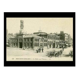 Postal vieja - mercado de pescados de Boulogne