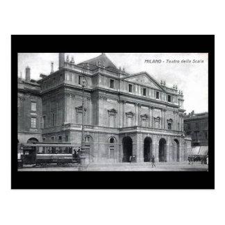 Postal vieja - Milano, teatro de la ópera del La S
