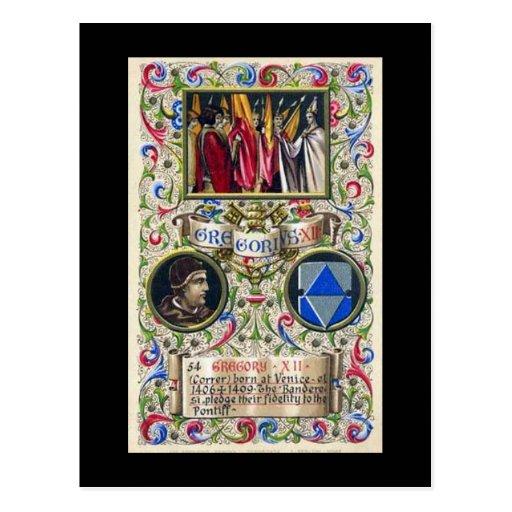 Postal vieja - papa Gregorio XII