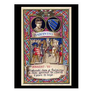 Postal vieja - papa Inocencio VII