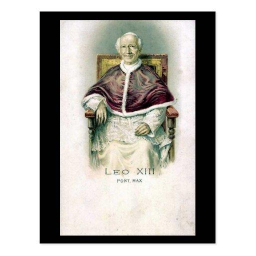 Postal vieja - papa León XIII