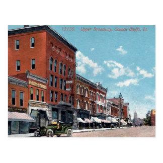 Postal vieja - pen¢ascos del consejo, Iowa, los