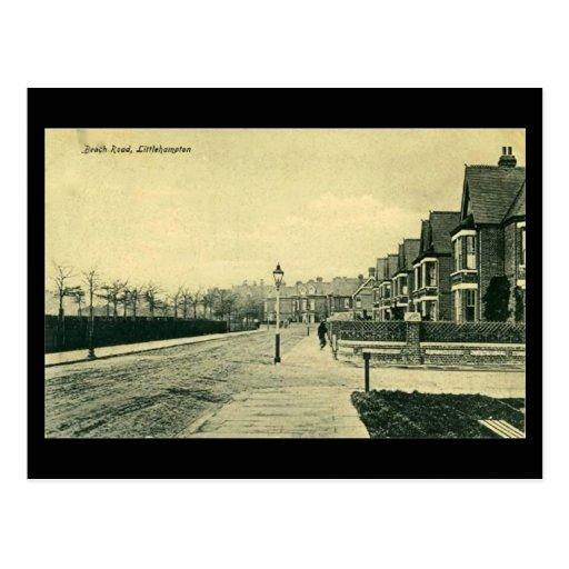 Postal vieja - playa Rd, Littlehampton, Sussex