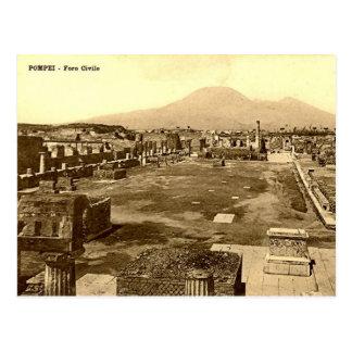 Postal vieja - Pompeya, el foro