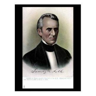 Postal vieja - presidente James K Polk de los
