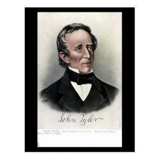Postal vieja - presidente John Tyler de los
