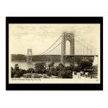 Postal vieja, puente de George Washington, Nueva Y