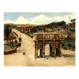 Postal vieja, Roma, el arco de Constantina