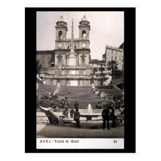 Postal vieja - Roma, pasos españoles