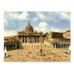 Postal vieja, Roma, San Pedro y el Vatican