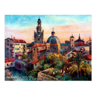 Postal vieja - San Remo, Italia