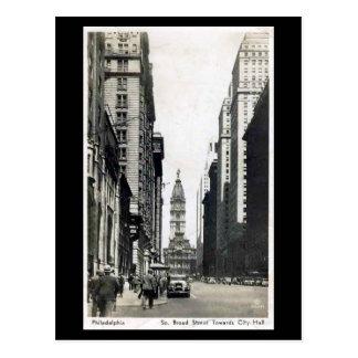 Postal vieja - St amplio de S, PA de Philadelphia