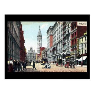 Postal vieja, St del mercado, Philadelphia, en 190