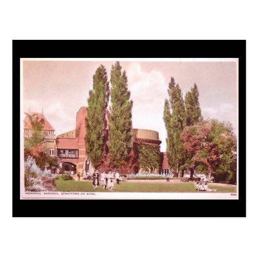 Postal vieja, Stratford-sobre-Avon, jardines del t