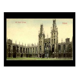 Postal vieja - todas las almas universidad, Oxford