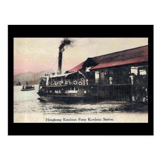 Postal vieja - transbordador de Kowloon, Hong Kong