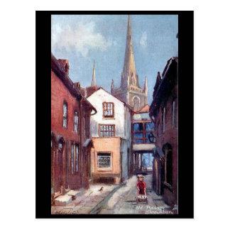 Postal vieja - viejo paso, Shrewsbury, Shropshire