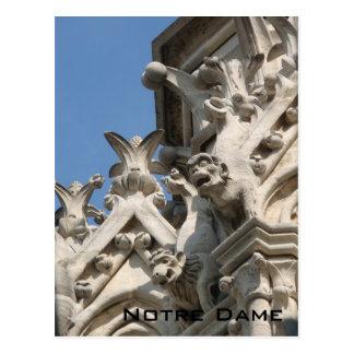 Postal vigilante de los ojos de Notre Dame