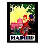 Postal-Vintage Viaje-Madrid