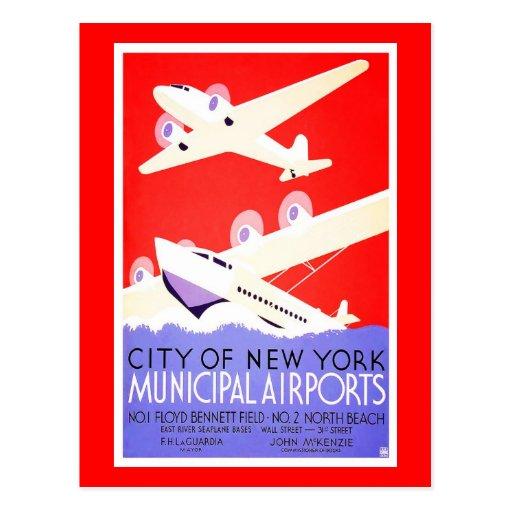 Postal-Vintage Viaje-Nueva York