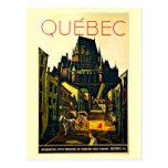 Postal-Vintage Viaje-Quebec