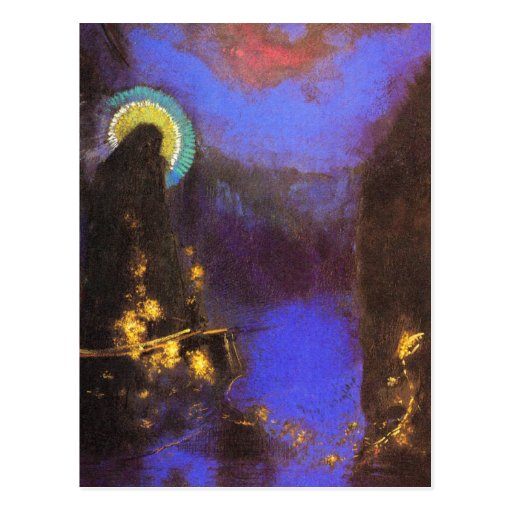 Postal:  Virgen con la pintura del Symbolist de la Postal