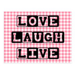 Postal viva de la risa del amor